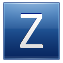 Letter Z blue icon
