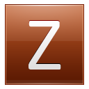 Letter Z orange icon