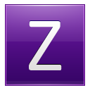 Letter Z violet icon