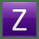 Letter Z violet icon