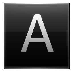 Letter A black icon
