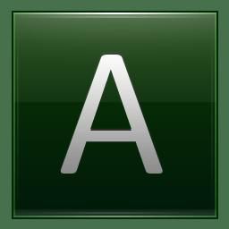 Letter A dg icon