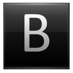 Letter B black icon