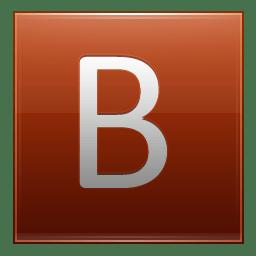 Letter B orange icon