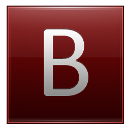 Letter B red icon