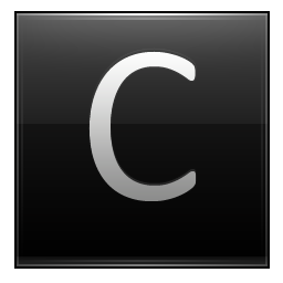 Letter C black icon