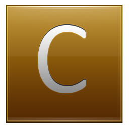 Letter C gold icon