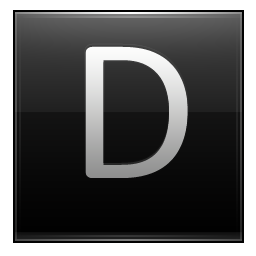 Letter D Black Icon Multipurpose Alphabet Iconset Supratim Nayak