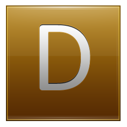 Letter D gold icon