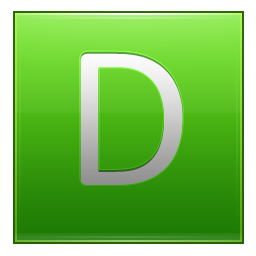Letter D lg icon