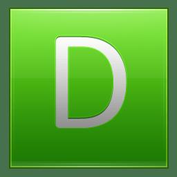 Letter D lg icon