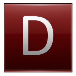 Letter D red icon