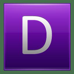 Letter D violet icon
