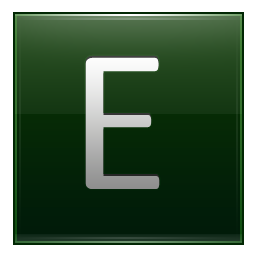 Letter E dg icon