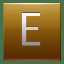 Letter E gold icon