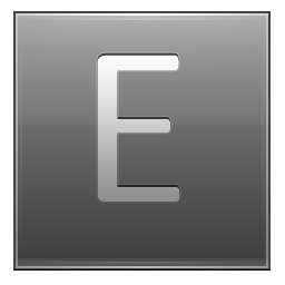 Letter E grey icon