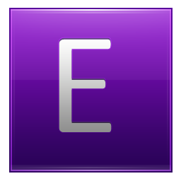 Letter E violet icon