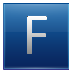 Letter F blue icon