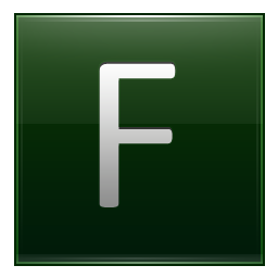 Letter F dg icon