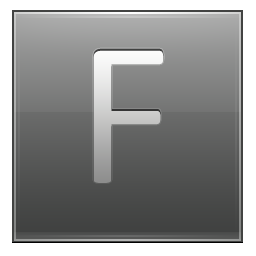 Letter F grey icon
