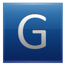 Letter G blue Icon | Multipurpose Alphabet Iconset | Supratim Nayak