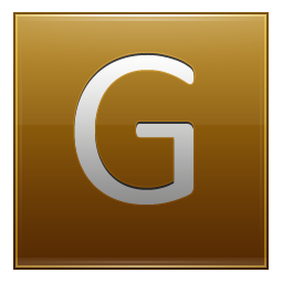 Letter G gold icon