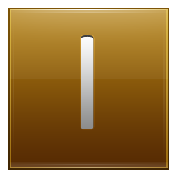 Letter I gold icon