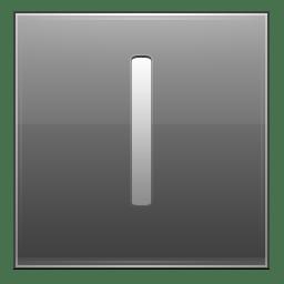 Letter I grey icon