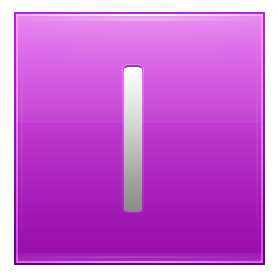 Letter I pink icon