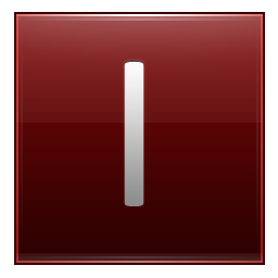Letter I red icon