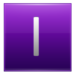 Letter I violet icon