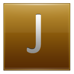 Letter J gold icon