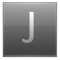 Letter J grey icon