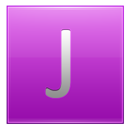 Letter J pink icon
