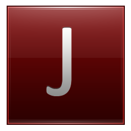 Letter J red icon