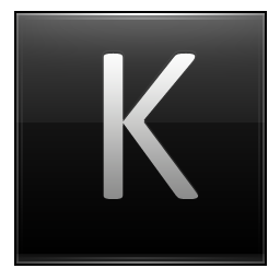 Letter K black icon