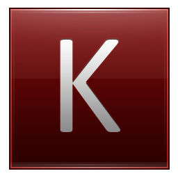 Letter K red Icon | Multipurpose Alphabet Iconset ...