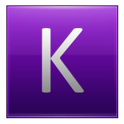 Letter K violet icon