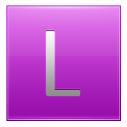 Letter L pink icon