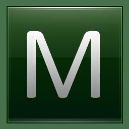 Letter M dg icon