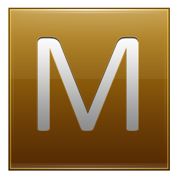Letter M gold icon