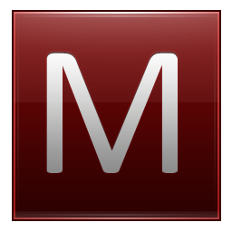 Letter M red icon