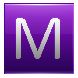 Letter M violet icon