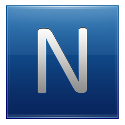 Letter N Blue Icon Multipurpose Alphabet Iconset Supratim Nayak