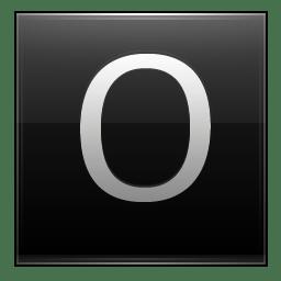 Letter O black icon