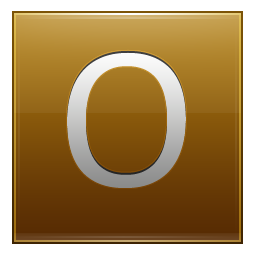 Letter O gold icon