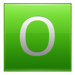 Letter O lg icon