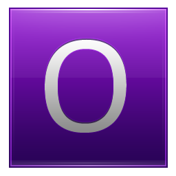 Letter O violet icon