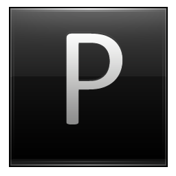Letter P black icon