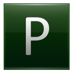 Letter P dg icon